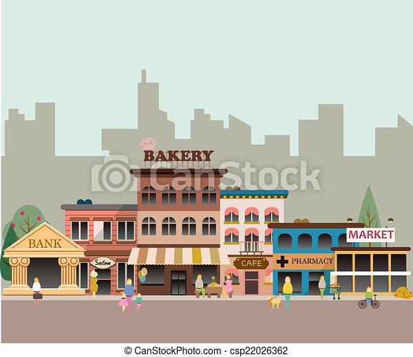 pequeño, edificios, empresa / negocio - csp22026362
