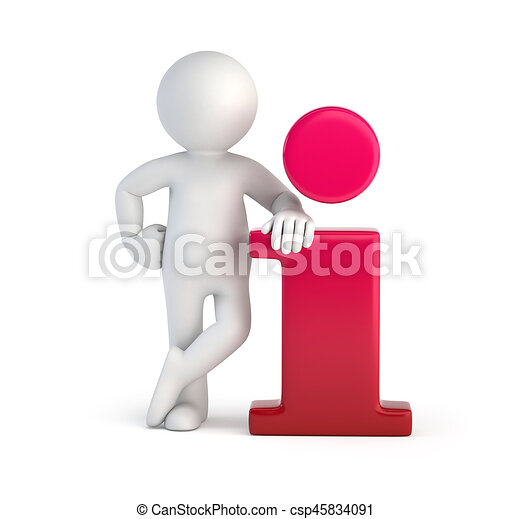 3D gente pequeña, información - csp45834091