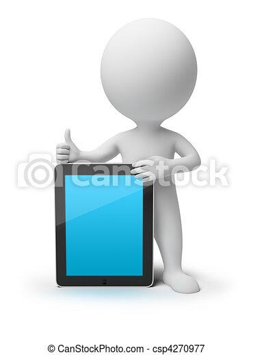 3D gente pequeña - iPad - csp4270977