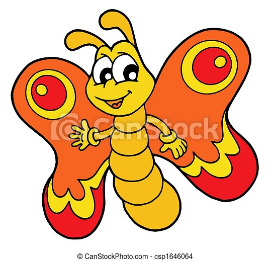 Dibujo de pequeo naranja mariposa  Small naranja mariposa