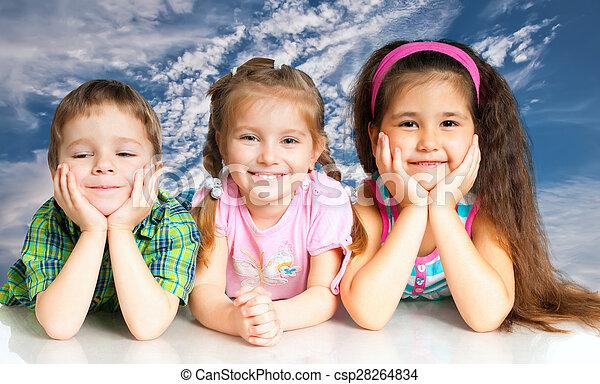 pequeño, niños - csp28264834
