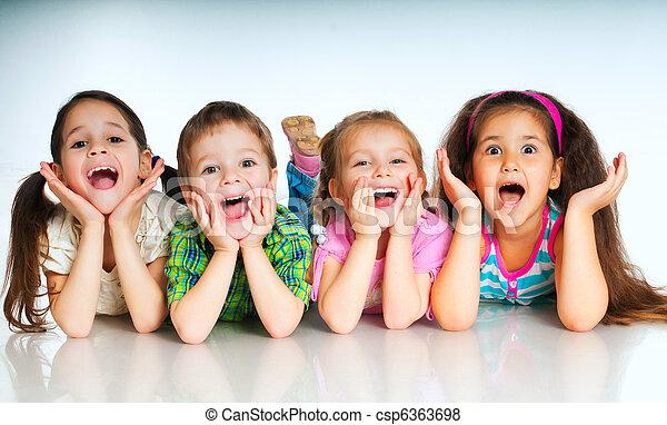 pequeño, niños - csp6363698