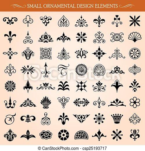 Pequeños elementos de diseño ornamental - csp25193717