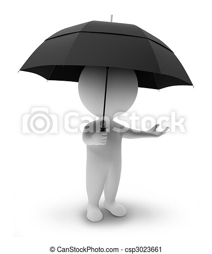 3D gente pequeña-umbrella - csp3023661