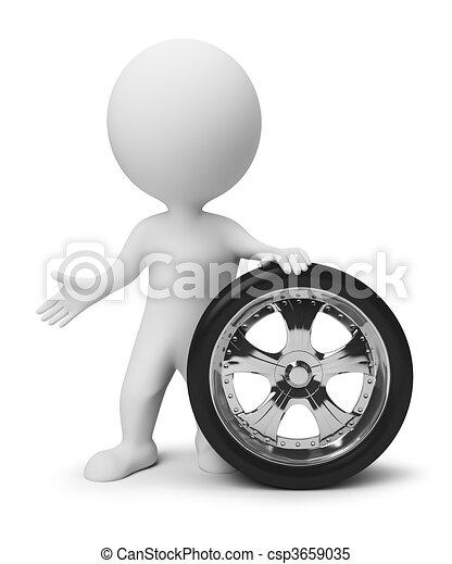 3d gente pequeña, rueda - csp3659035