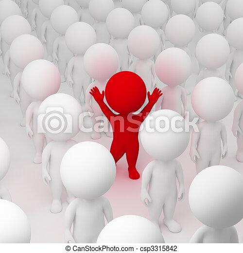 3D personas pequeñas - segregación - csp3315842