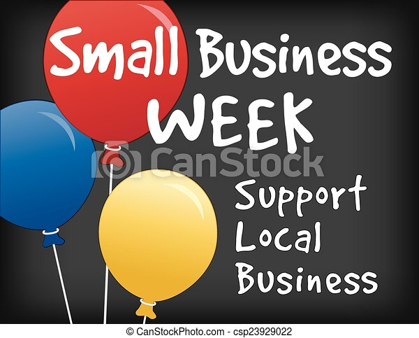 Un pequeño cartel de la semana de negocios - csp23929022