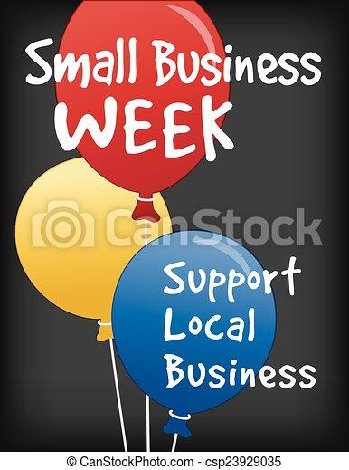 Un pequeño cartel de la semana de negocios - csp23929035