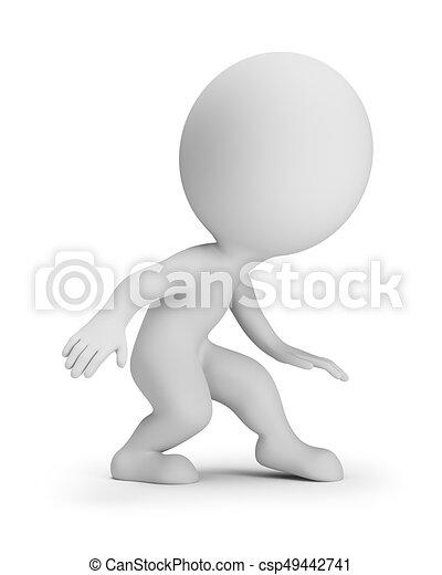 3D personas pequeñas - slink - csp49442741
