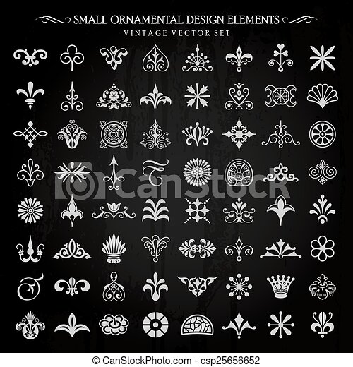 Pequeños elementos de diseño vectorial - csp25656652