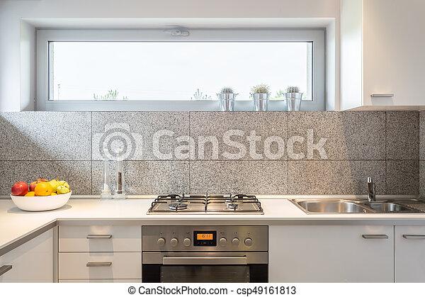 Peque o ventana cocina peque o azulejos cocina for Ventanas de aluminio para cocina