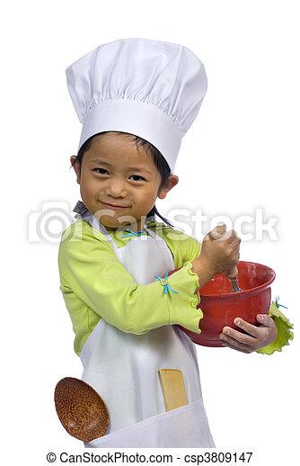 Pequeños chefs 004 - csp3809147