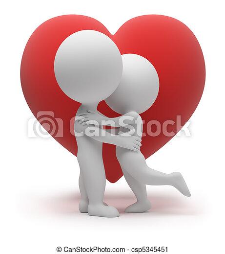 pequeno, -, 3d, amor, pessoas - csp5345451