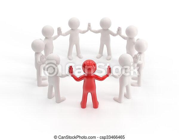 pequeno, 3d, -, líder, pessoas - csp33466465