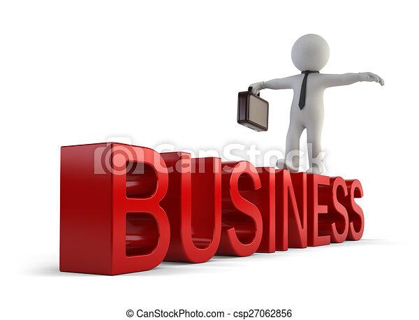 pequeno, 3d, -, pessoas negócio - csp27062856