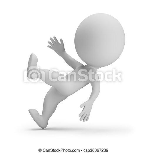 pequeno, 3d, -, slipped, pessoas - csp38067239