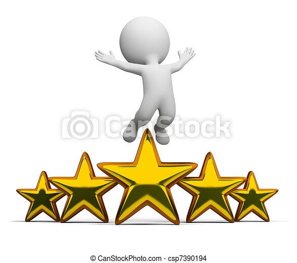 pequeno, -, 3d, superstar, pessoas - csp7390194