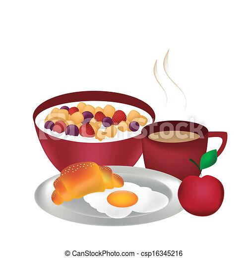 pequeno almoço, completo - csp16345216