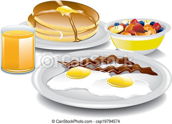 pequeno almoço, completo - csp19794574