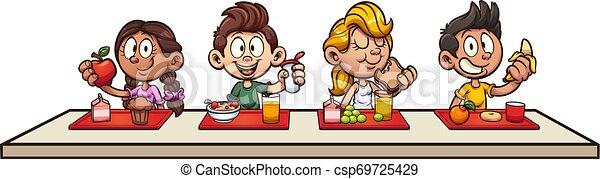 pequeno almoço, crianças - csp69725429