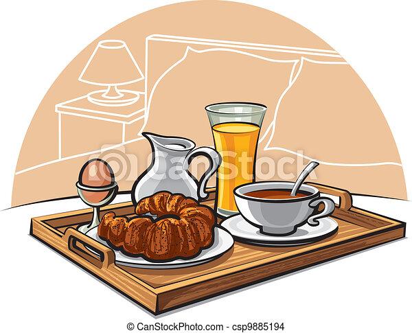 pequeno almoço, hotel - csp9885194