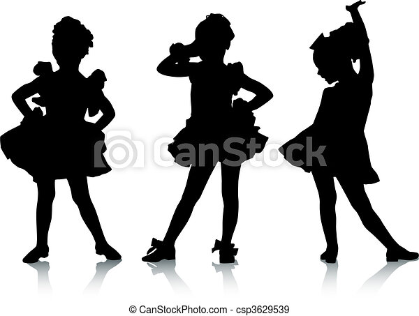 pequeno, bailarinas - csp3629539