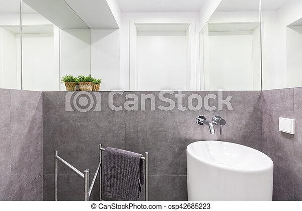 Pequeno Banheiro Modernos Pia