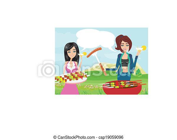 pequeno, churrasqueira, partido - csp19059096