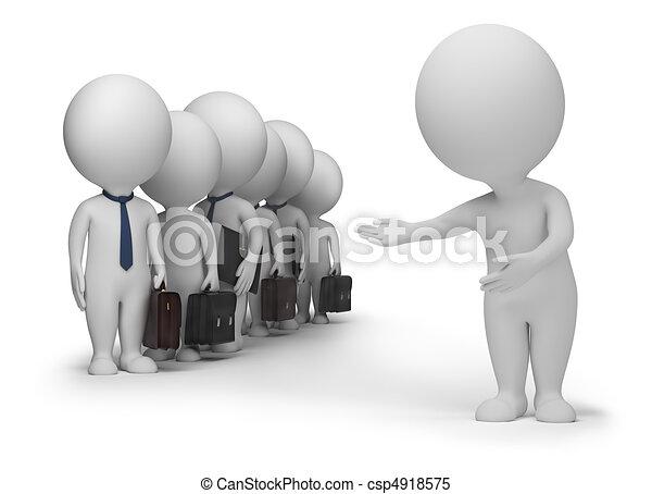 pequeno, clientes, -, 3d, pessoas - csp4918575