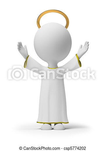 pequeno, deus, 3d, -, pessoas - csp5774202