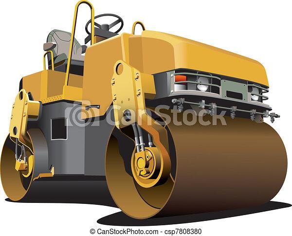 pequeno, estrada, rolo - csp7808380