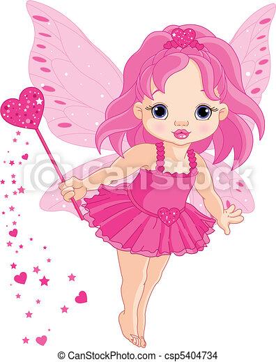 pequeno, fada, amor, bebê, cute - csp5404734
