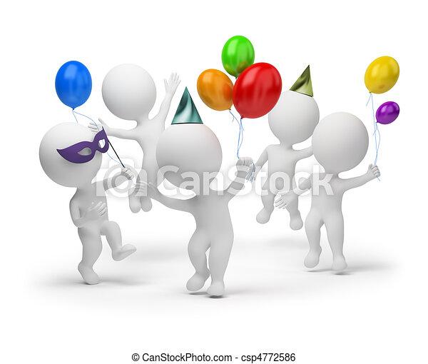 pequeno, feriado, -, 3d, pessoas - csp4772586