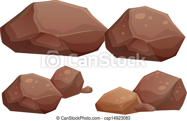 pequeno, grande, pedras - csp14923083