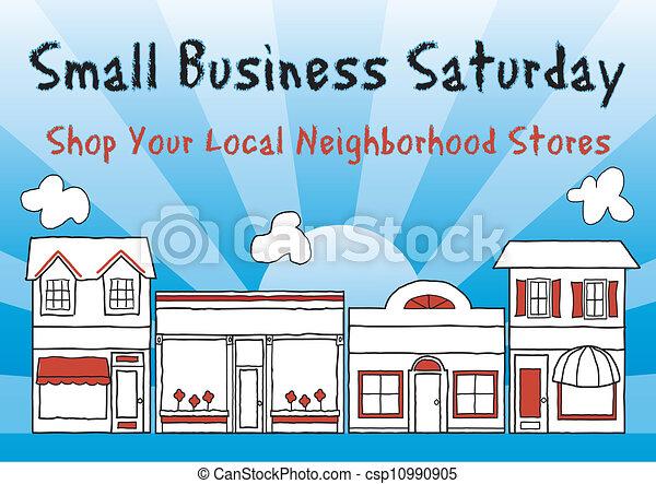 pequeno, sábado, negócio - csp10990905