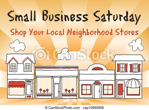 pequeno, sábado, negócio - csp10990906