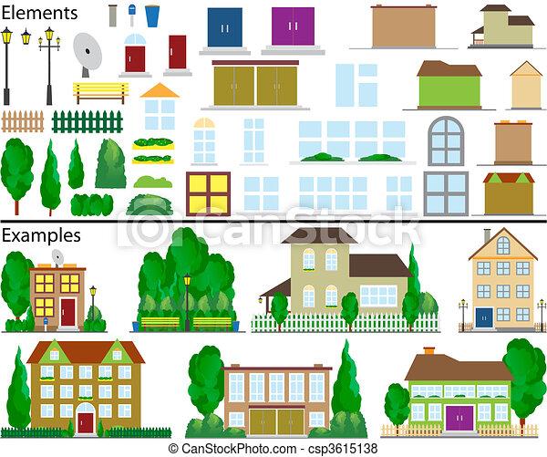 pequeno, suburbano, houses. - csp3615138