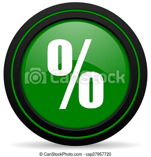 percent green icon - csp27957720