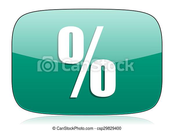 percent green icon - csp29829400
