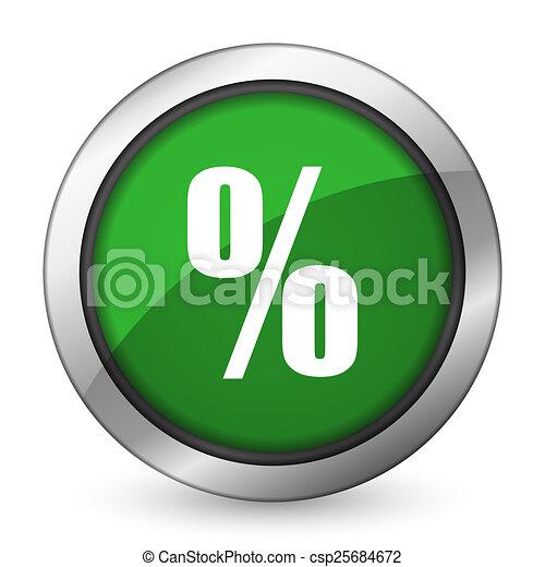 percent green icon - csp25684672