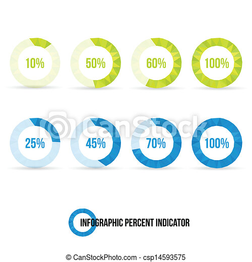 Percent indicator pie chart infographic element vector illustration percent indicator pie chart csp14593575 ccuart Image collections