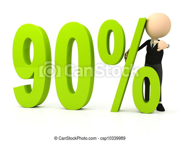 Percent symbol on white background - csp10339989