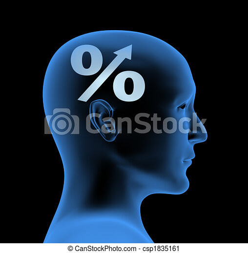Percentage - an index of intelligence - csp1835161