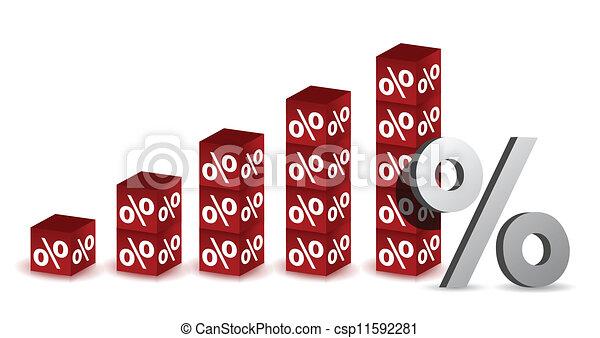 percentage graph - csp11592281