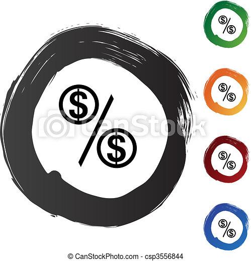 Percentage Rate - csp3556844