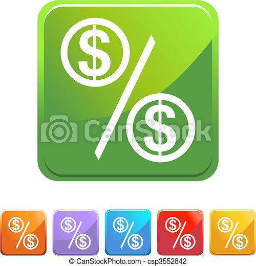 Percentage Rate - csp3552842
