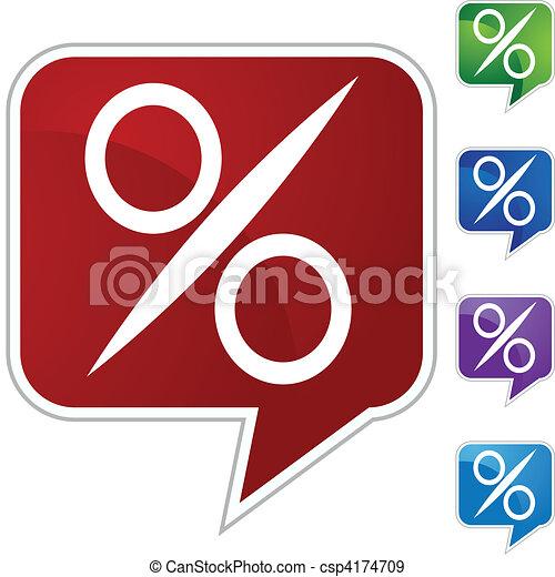 Percentage Sign - csp4174709