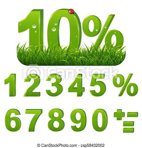 El verde está lleno de hierba - csp58432002
