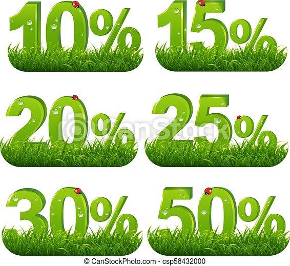 Los porcentajes verdes cobran hierba - csp58432000