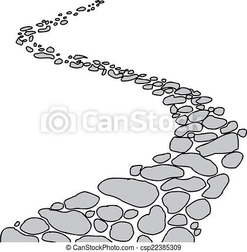 percorso, pietra, isolato - csp22385309